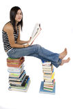 Read books. Teenagers reads books in order to expand the knowledge royalty free stock photos