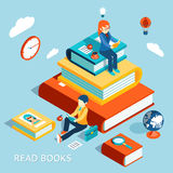 Read books concept Royalty Free Stock Photo