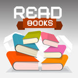 Read Books Vector Illustration Royalty Free Stock Photo
