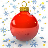 Read Christmas Bauble Royalty Free Stock Photos