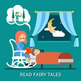 Read fairy tales Stock Photography
