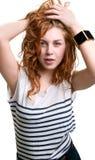 Read head girl portrait Royalty Free Stock Photo
