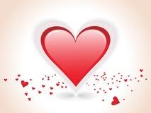 Read hearts as an editable vector Stock Photo