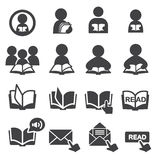 Read icon set Royalty Free Stock Image