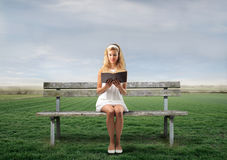 Free Read In The Park Stock Image - 16167291
