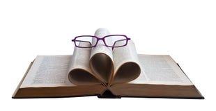 read książkowi okulary przeciwsłoneczne obraz stock