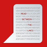 Read between the lines Royalty Free Stock Images