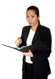 Read the manual! - asian business woman Stock Photography