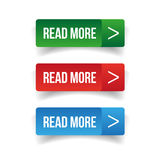 Read more button set Royalty Free Stock Image