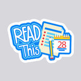 Read This Sticker Social Media Network Message Badges Design Stock Images