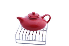 Read teapot Royalty Free Stock Images