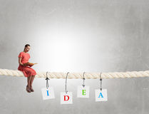 Read to broaden your mind Stock Images
