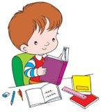 Reader. Vector clip-art / children's illustration for yours design, postcard, album, cover, scrapbook, etc Royalty Free Stock Photography