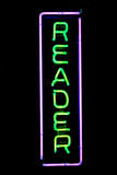 Reader Neon Sign Royalty Free Stock Image