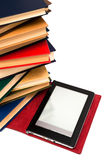 Reader and old books Stock Photography