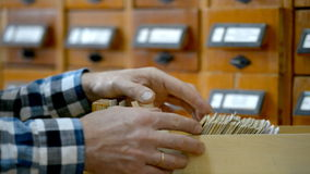 Reader searching in the card index