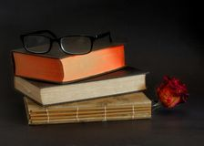 Readers and books stock photo