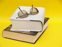 Readers still life with books and eyeglasses Stock Images