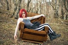 Readhead girl Royalty Free Stock Image