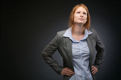 Readiness and Vision - Businesswoman Stock Photography