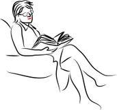 Reading vector illustration