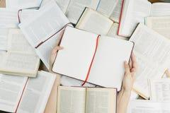 Reading addicting mood. Royalty Free Stock Photography