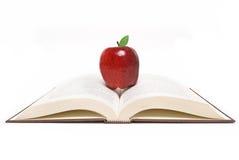 Reading apple Royalty Free Stock Photo