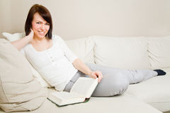 Reading as a hobby Royalty Free Stock Image