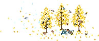 Reading in autumn Royalty Free Stock Photos