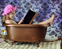 Reading Bathtub Diva Stock Photos