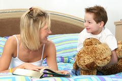 Reading At Bedtime Royalty Free Stock Images
