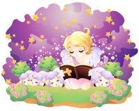 Reading bible Stock Photos