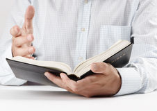Reading the Bible Royalty Free Stock Photo