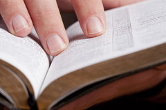 Reading Through the Bible Stock Photos