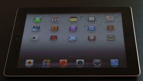 Reading Bible on iPad digital tablet. Woman hand searching the Bible on iPad digital tablet stock video footage