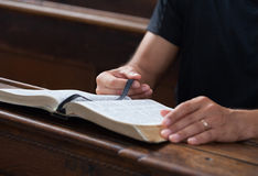 Reading Bible Royalty Free Stock Images