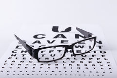 Reading black eyeglasses Stock Photo