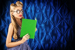 Reading blonde stock images