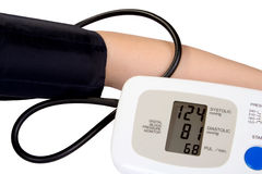 Reading blood pressure Royalty Free Stock Photos