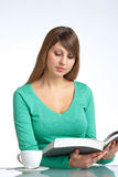 Reading a book Stock Photography