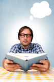 Reading the book Royalty Free Stock Images