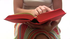 Reading a Book stock footage