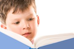 Reading the book royalty free stock photo