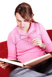 Reading a book Stock Image