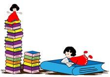 Reading Book Royalty Free Stock Photos