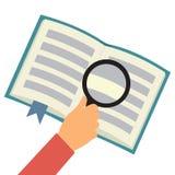 Reading book flat concept stock illustration