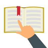 Reading book flat symbol Royalty Free Stock Photos