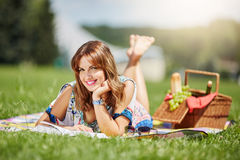 Reading book in the fresh air Stock Photo
