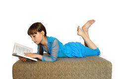 Reading a book. Royalty Free Stock Photo