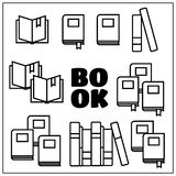 Reading book  icons set Stock Images